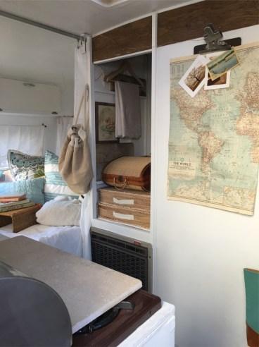 Vintage Trailer Alpine Sprite Caravan Retro Van Interior 11