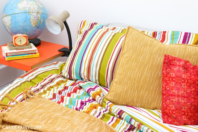 Where to find bedding in mid-century colours