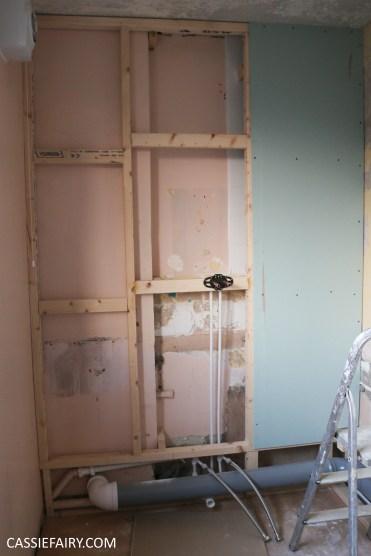 bathroom remodelling renovation makeover decorating project before tiles shower-14