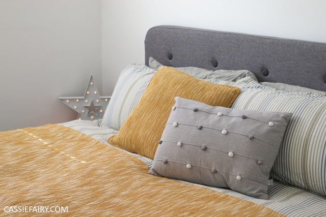 Bedroom progress - a retro-style bed & snuggly new duvet