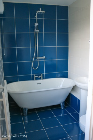 blue and white modern bathroom on a budget-7