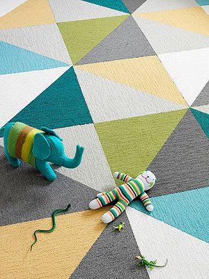 triangle geometric flooring carpet tiles