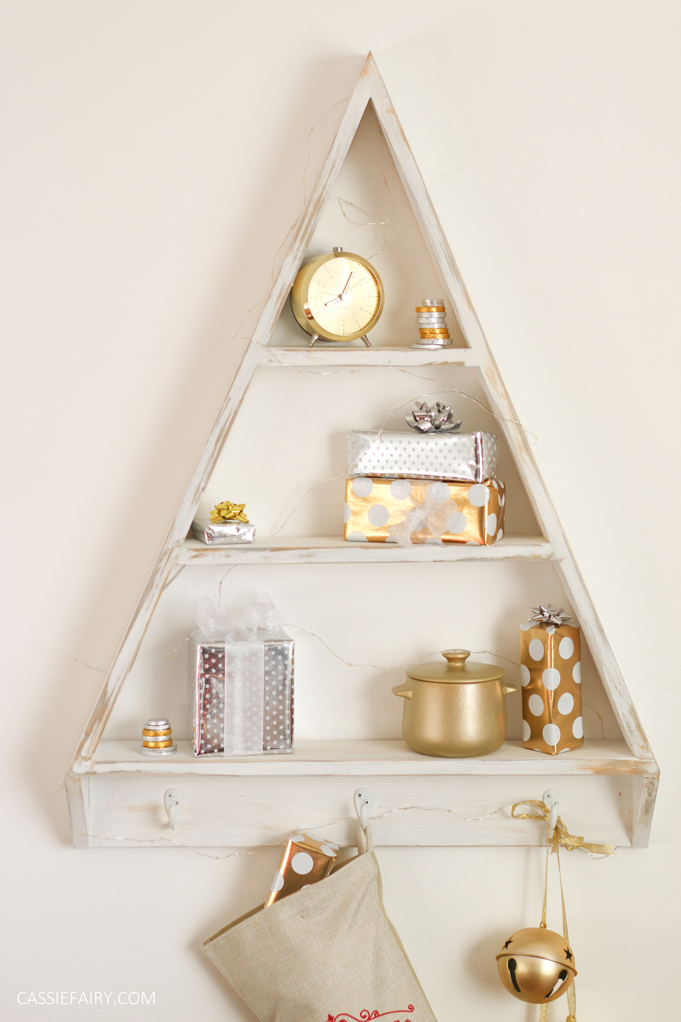 I Loved Making The Christmas Tree Wall Unit And Itu0027s Actually Rather Handy  Shelving For All Year Round. I Love A Bit Of Gold In My Office, ...