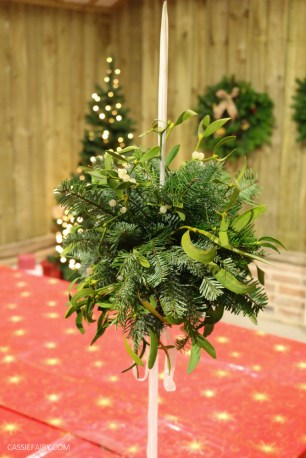 Festive Fun at Blackthorpe Barn Wreath Making Workshop-66