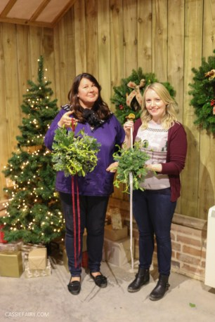 Festive Fun at Blackthorpe Barn Wreath Making Workshop-69