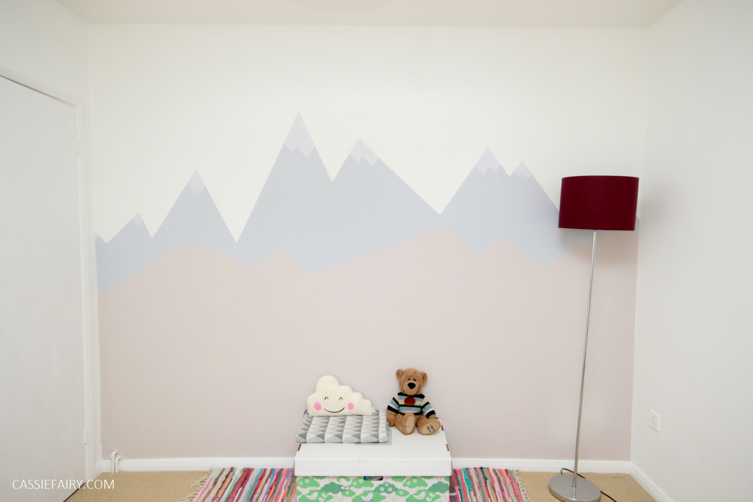 how to paint a mountain mural wall for a child s nursery with rh cassiefairy com