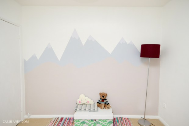 How To Paint A Mountain Mural Wall For A Child S Nursery With
