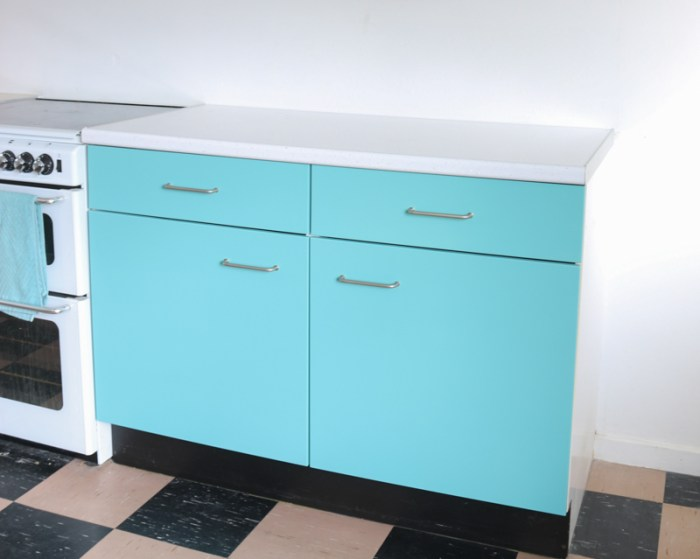 kitchen cabinets painted turquoise blue