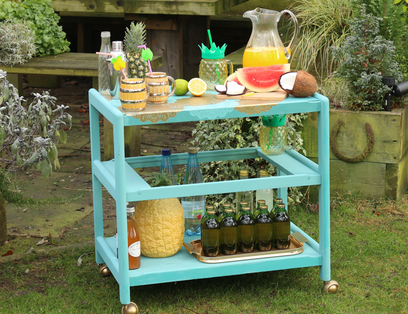 How to make an upcycled bar cart for summer garden parties