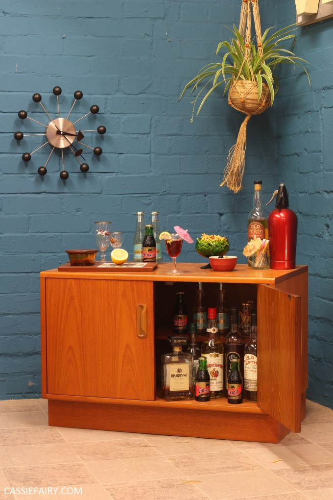 How to style a retro cocktail cabinet for your New Year's