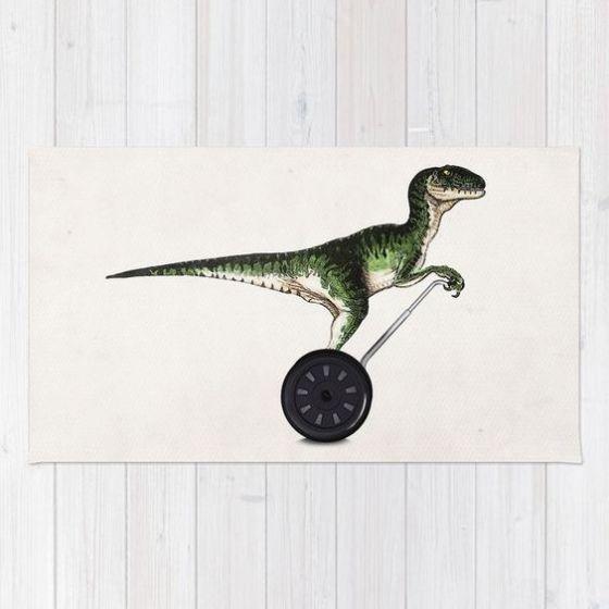 Dinosaur design on a rug