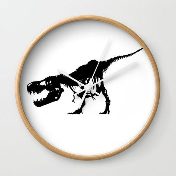 Dinosaur wall clock with T Rex design on the face