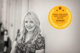 most creative art and craft blog award 2019 winner cassiefairy badge