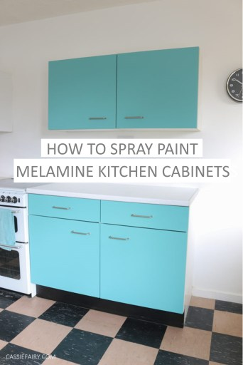 Diy Video How To Spray Paint Melamine Kitchen Cabinets
