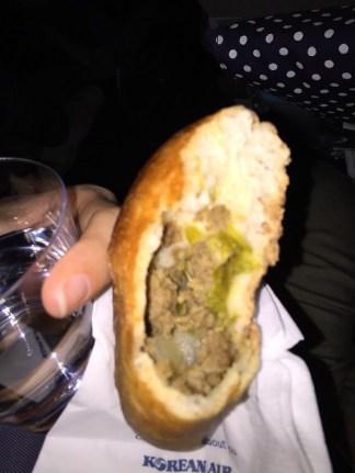 Meat filled bun