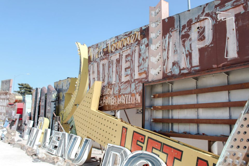 Neon boneyard in Las Vegas.