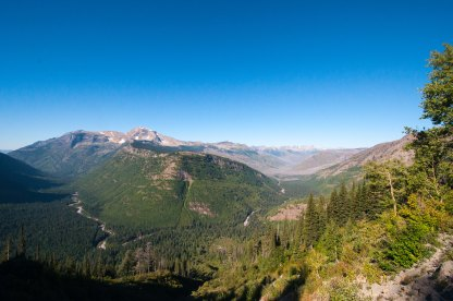 One of the views you get from Going to the Sun Road.