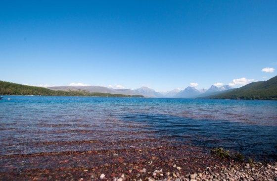 Lake McDonald from shore
