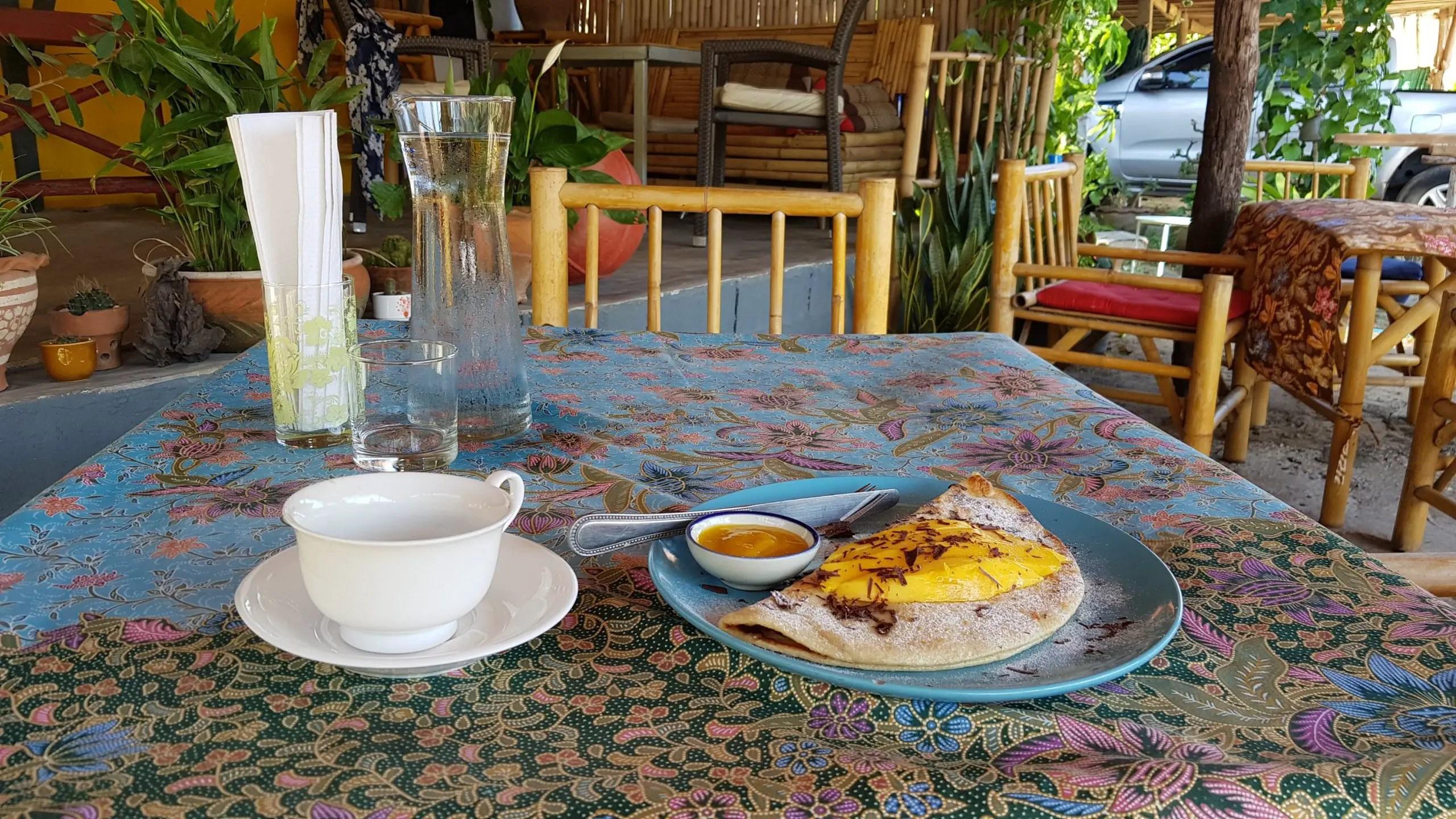 Vegan pancakes in Koh Lanta, Thailand