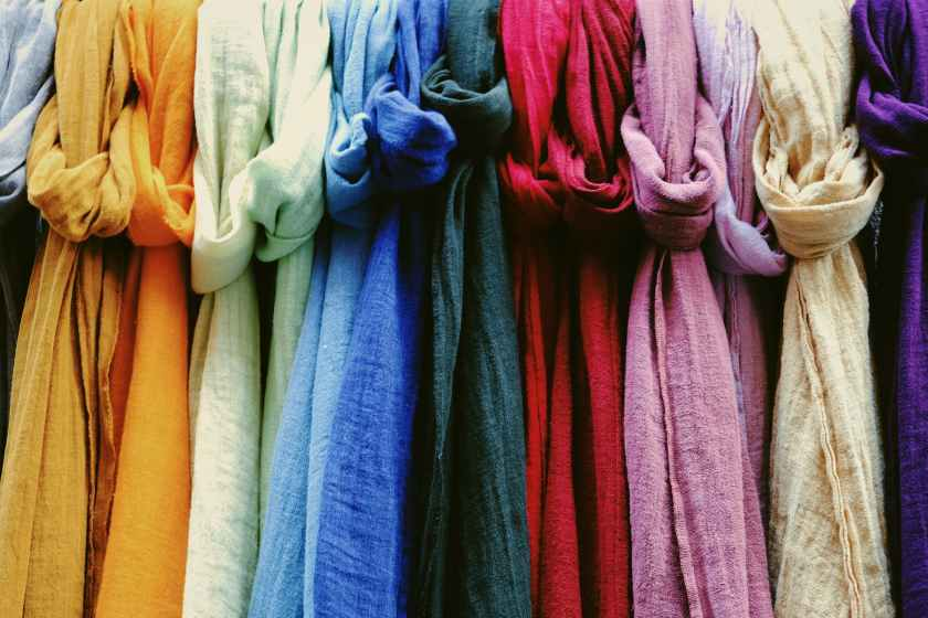 multicolored linen fabrics for sale in shop