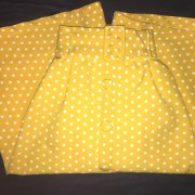 yellow polkadot skirt modcloth intern of fate citrus dots