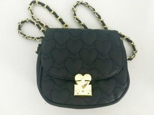 betsey johnson black cross body purse