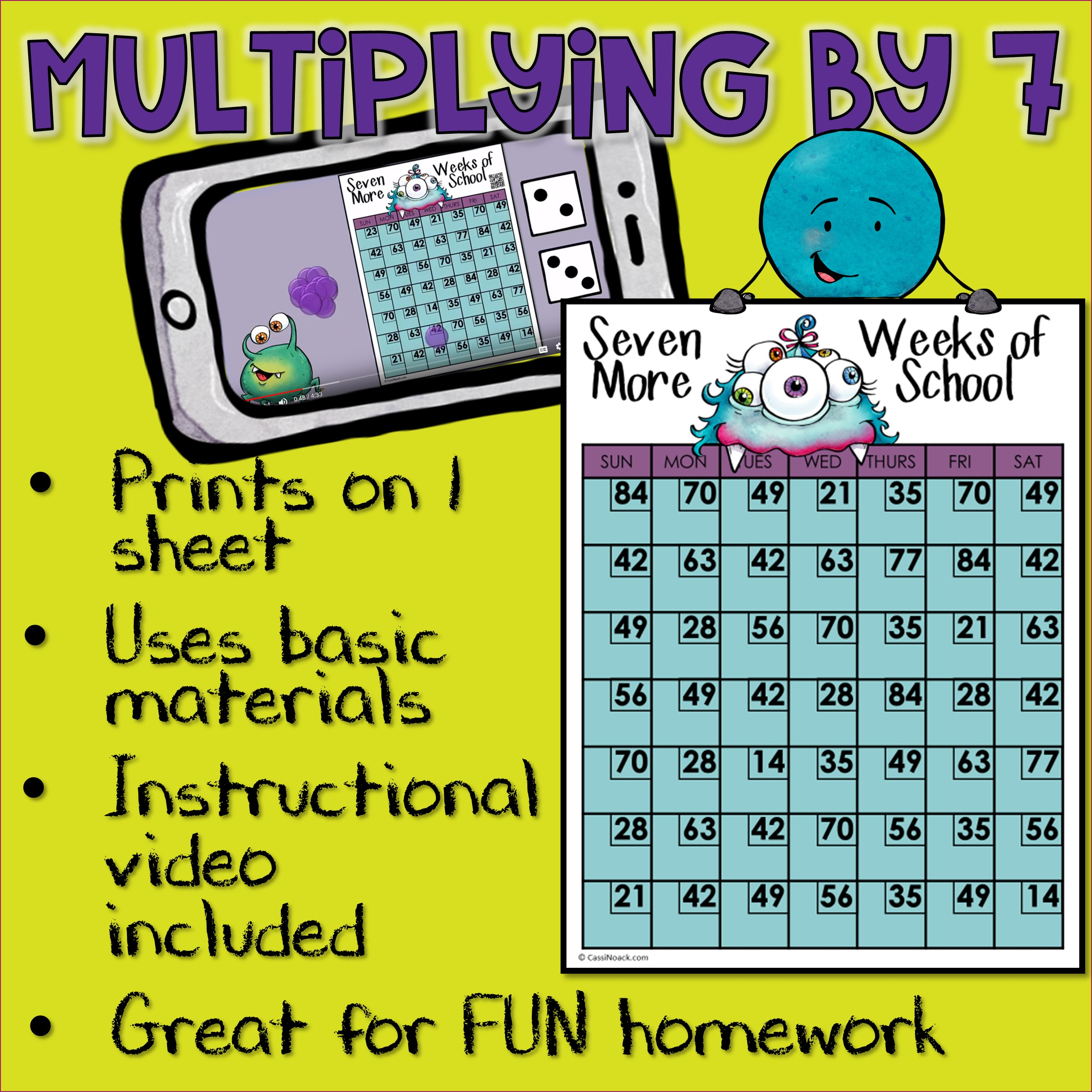 Multiplication Facts Station Game