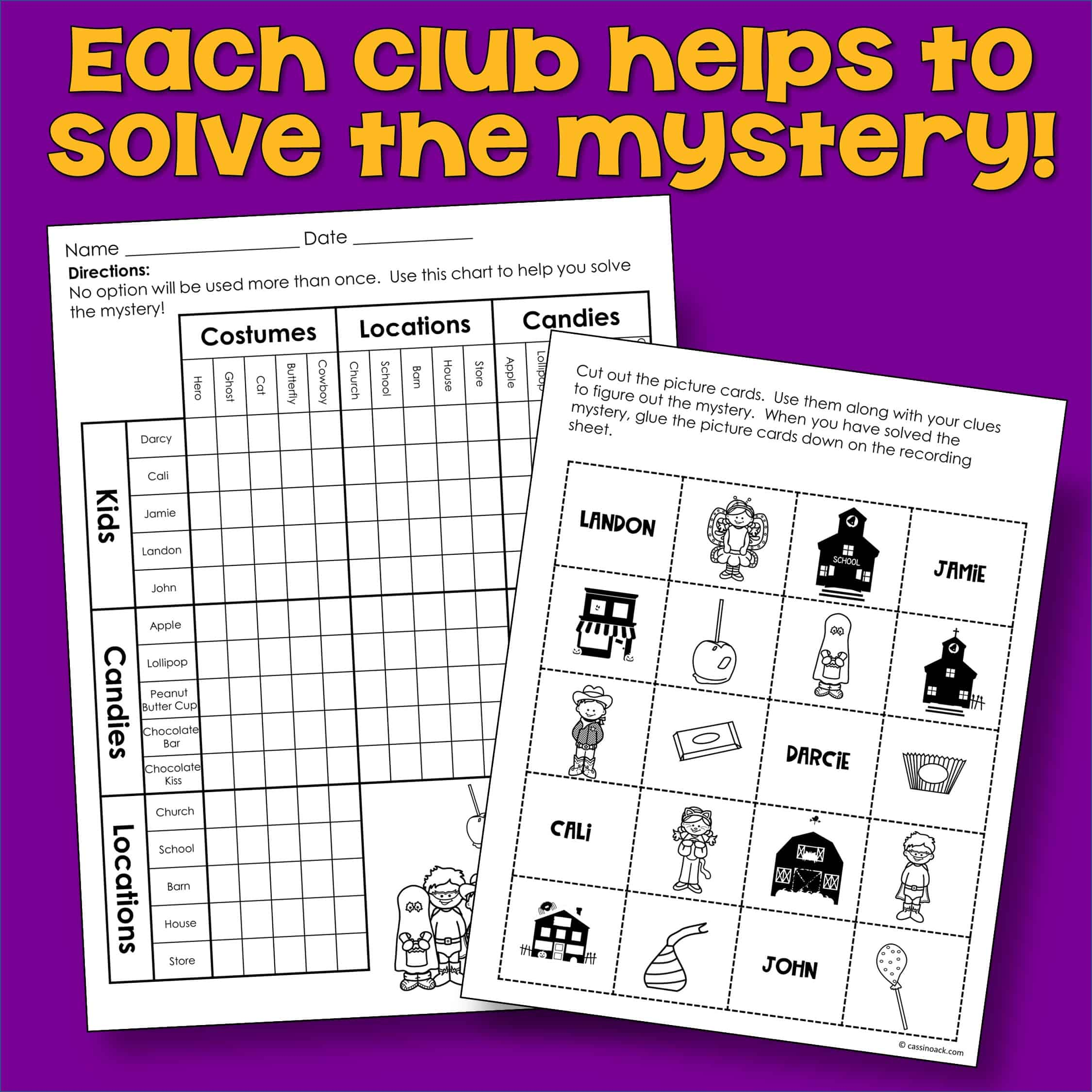 Halloween Math Worksheets For A Super Fun Mystery Group Activity 4th 5th Grade Cassi Noack