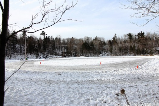 Duluth Area Speedskating Club oval in prep