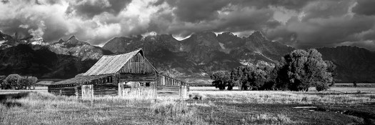 Teton Homestead B&W web
