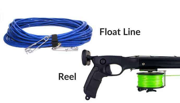 Speargun Floatline and Speargun Reel
