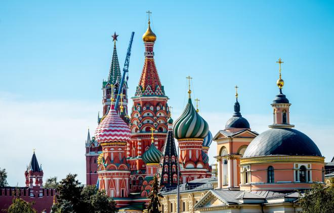 Kremlin on clear day