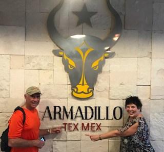 Jim and Donna at the Armadillo tex mex