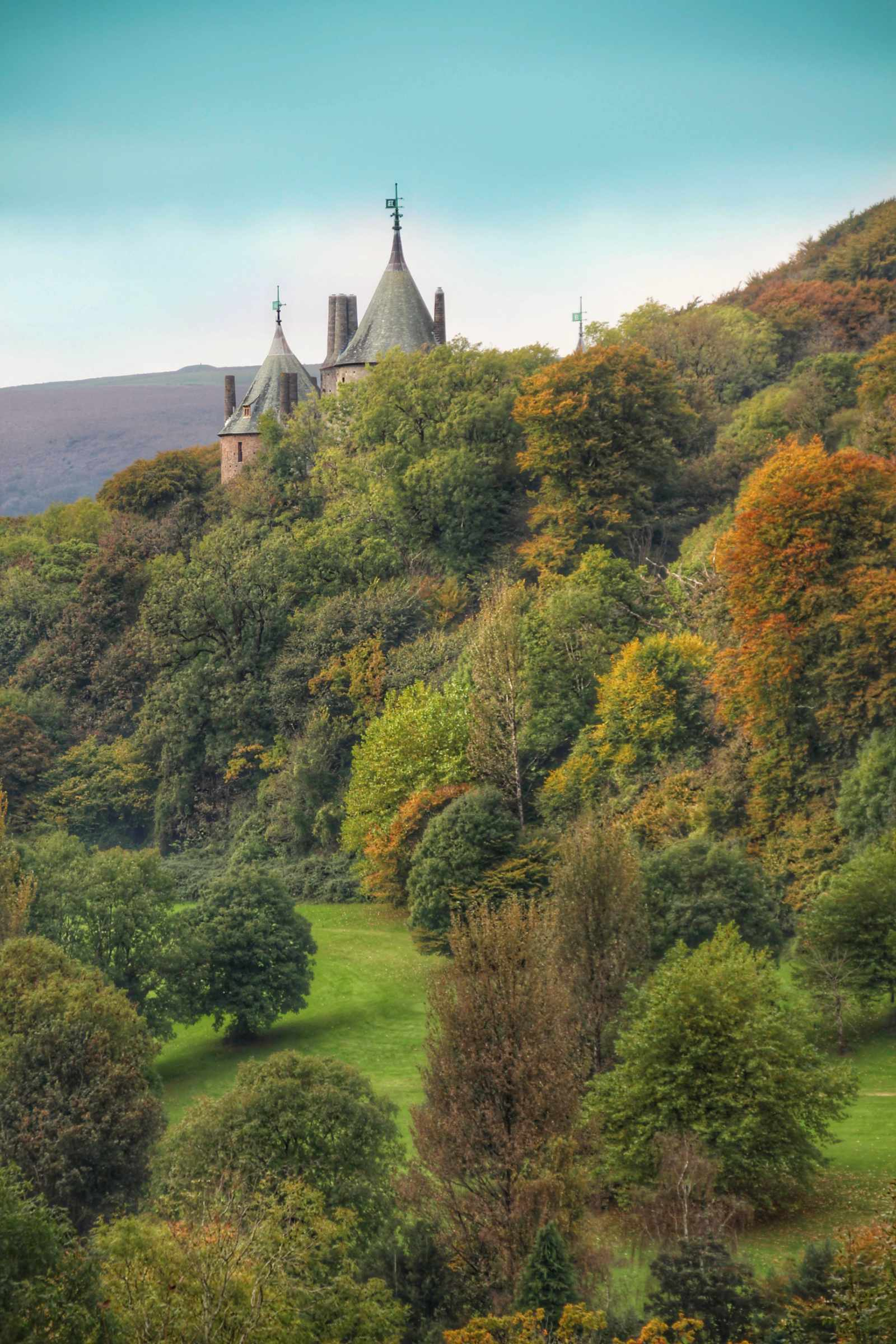 Castell Coch in autumnal trees