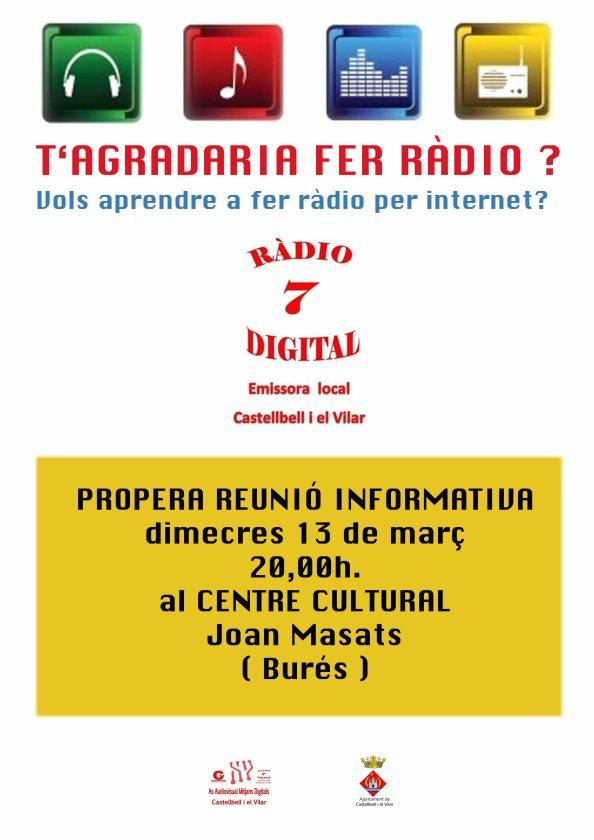 Cartell radio 7 reunio