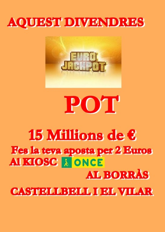 Cartell Pot 15 Milions