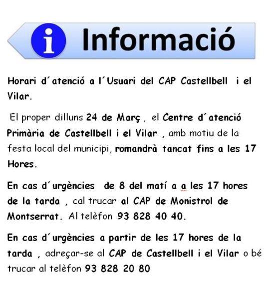 Festa Local  Castellbell Cap de Castellbell Tancat