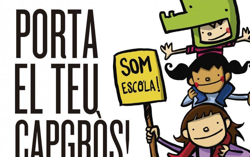 """Somescola.cat presenta la imatge de la cercavila """"Per un país de tots, decidim escola catalana"""" del 14 de juny"""