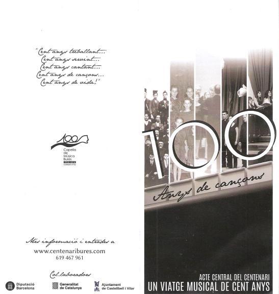 Cartell 100 anys de Cançons