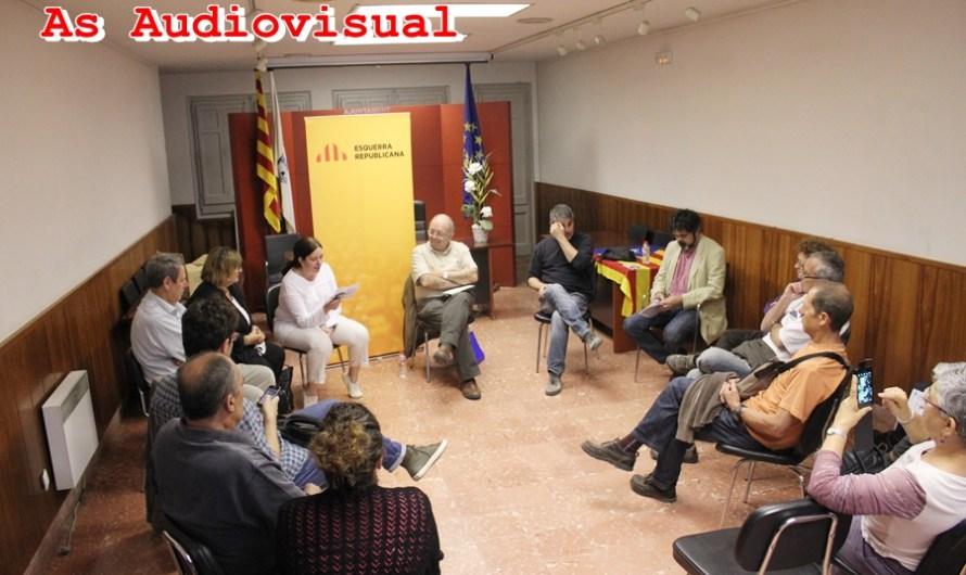 Les seccions locals del PSC i ERC  de Castellbell i el Vilar fan campanya electoral per les Europees 2014.