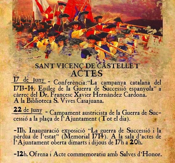 Sant Vicenç de Castellet celebra aquest cap de setmana els actes del tricentenari 1714-2014