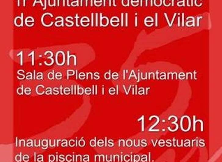 L'Ajuntament de Castellbell i el Vilar, farà un homenatge al primer Ajuntament de la democràcia.