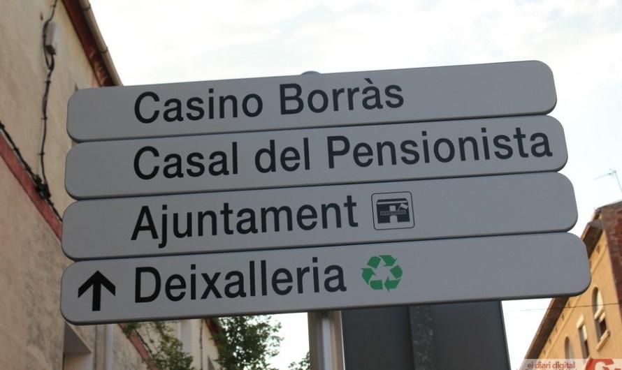 Castellbell i el Vilar, un poble ben senyalitzat.