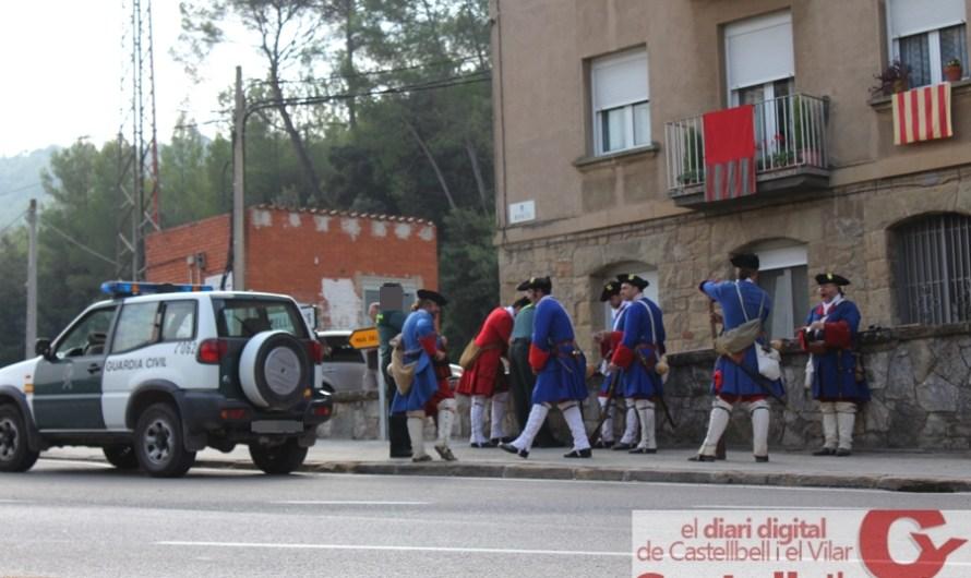 La Guardia Civil tambè fa control d´armes als miquelets durant la festa de Resistents a Castellbell i el Vilar