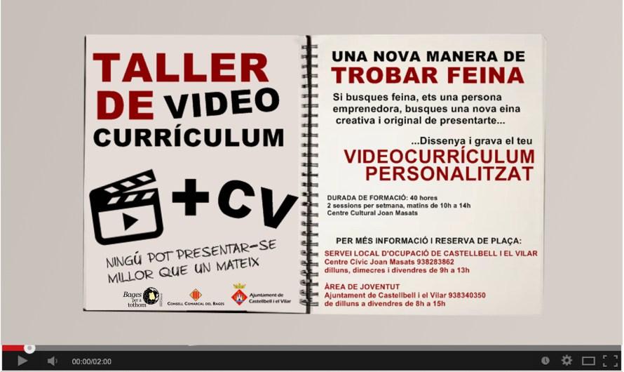 Últimes places per al taller de vídeocurrículum que organitza l´ajuntament de Castellbell i el Vilar