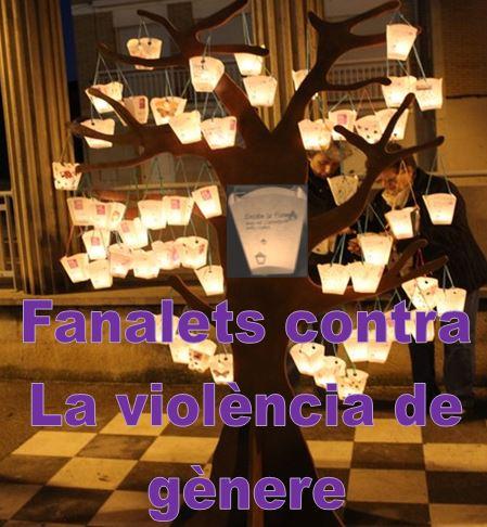 Fanalets contra la violència de gènere