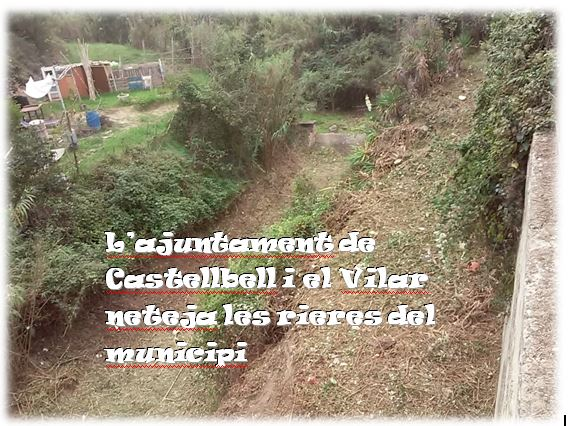 L'ajuntament de Castellbell i el Vilar neteja les rieres del municipi.
