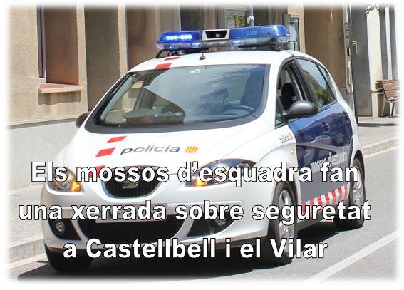 Els mossos d'esquadra fan una xerrada sobre seguretat a Castellbell i el Vilar.