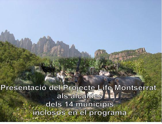 Presenten el Projecte Life Montserrat als alcaldes dels 14 municipis inclosos en el programa  , entre els quals hi ha Castellbell i el Vilar