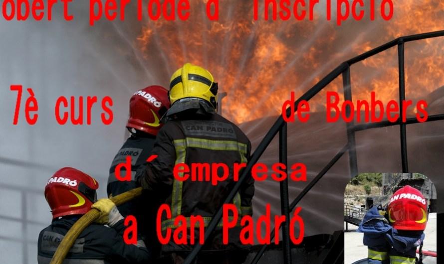 Obertes les inscripcions pel seté curs de bombers d´empresa a Can Padró.